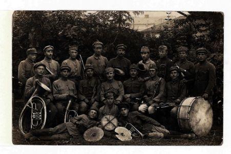 Оркестр Команди 2-го корпусу УГА в м. Проскурові. Фотокартка. 13 серпня 1919 р.