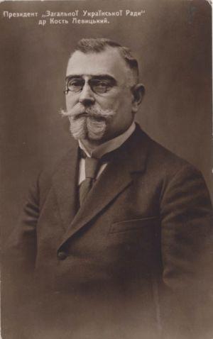 Фотокартка К. Левицького, якому 18 листопада 1919 р. виповнилося 60 років.